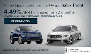 Garbo Lincoln Certified Pre-Owned Sales Event