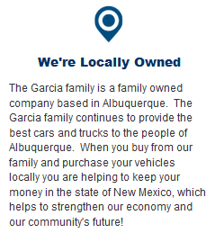 Garcia Subaru is Locally Owned by the Garcia Auto Group in Albuquerque