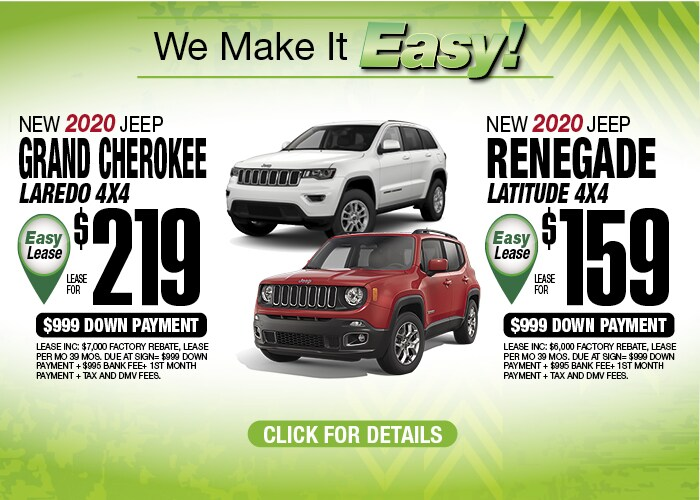 Grand Cherokee Renegade Feb 2020