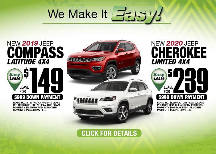 Jeep Compass Jeep Cherokee Oct 2019