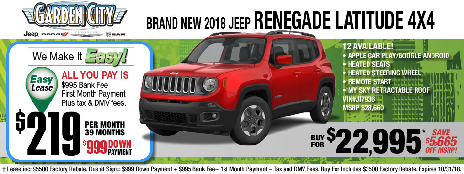 New Jeep Renegade For Sale At Long Island Jeep Dealer