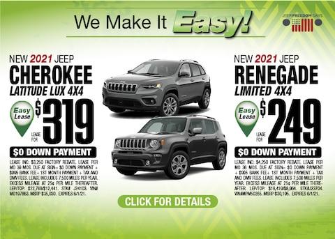 Jeep Renegade/Cherokee Deal - May 2021