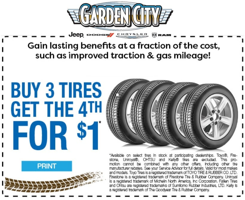 Buy 3 Tires, Get 1 Free