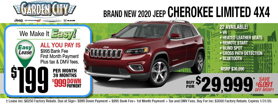 cherokee limited Jan 2020 specials page