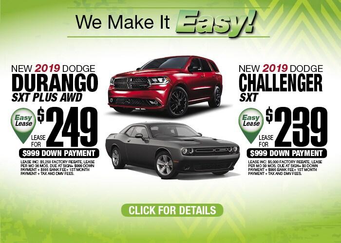 Dodge Durango Dodge Challenger Oct 2019