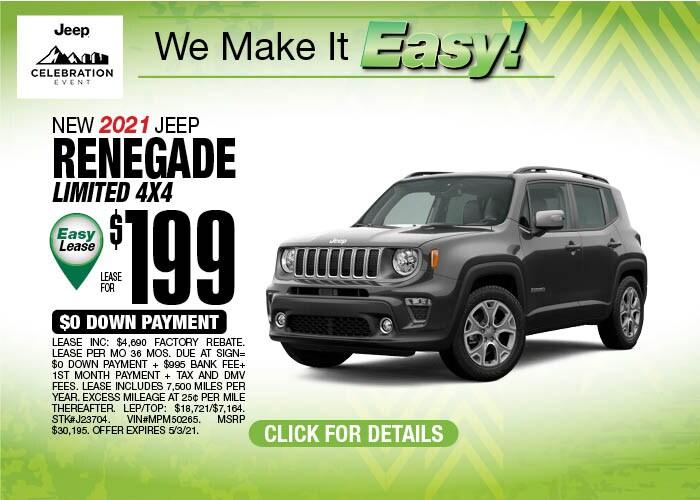 2021 Jeep Renegade April Special