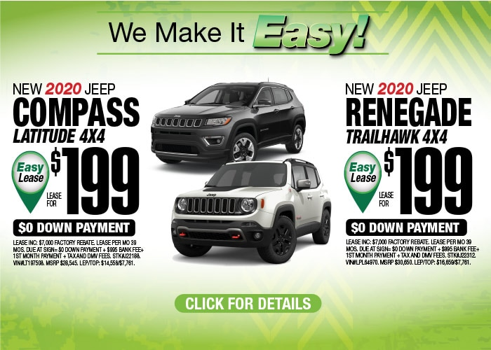 Jeep Compass Latitude Jeep Renegade Trailhawk Aug 2020