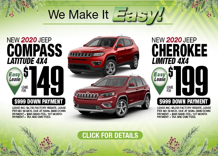 Jeep Commpass Lat Jeep Cherokee Limited Dec 2019
