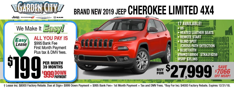 New Jeep Cherokee Suv Inventory In Long Island