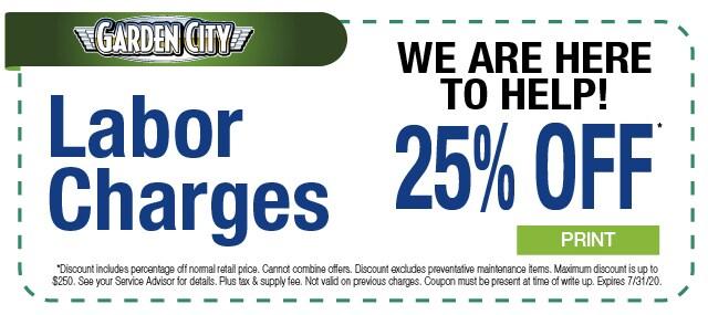 25% off Labor