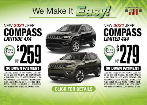 Jeep Compass Deal - May 2021
