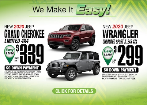 Grand Cherokee Limited Wrangler Unlimited Sport Deals May 2020