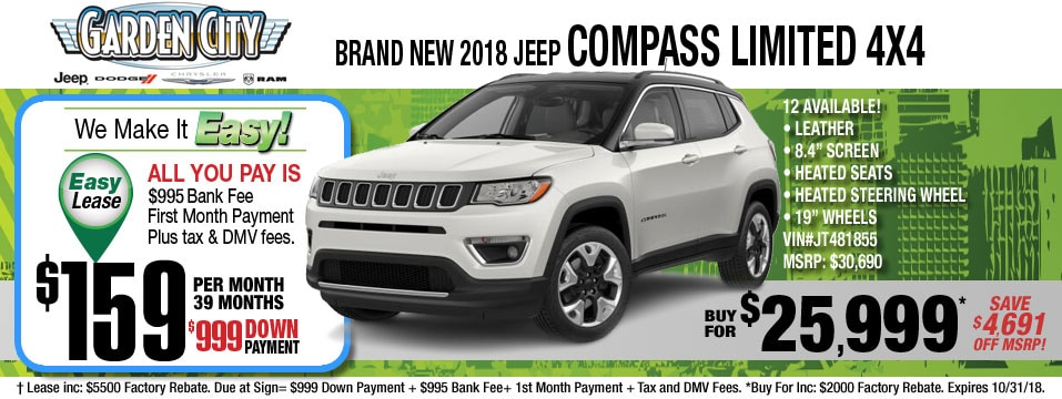 New Jeep Compass Inventory At Long Island Jeep Dealer, Hempstead NY