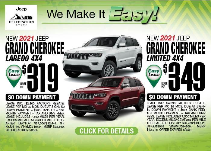 2021 Grand Cherokee April Special