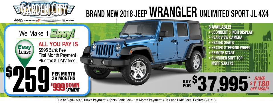 New Jeep Wrangler Inventory Available Near Wantagh - Jeep wrangler unlimited invoice price 2018