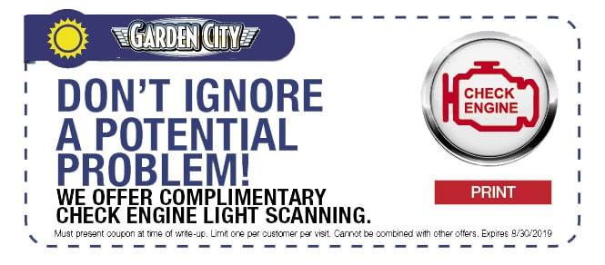 Complimentary Check Engine Light Scan