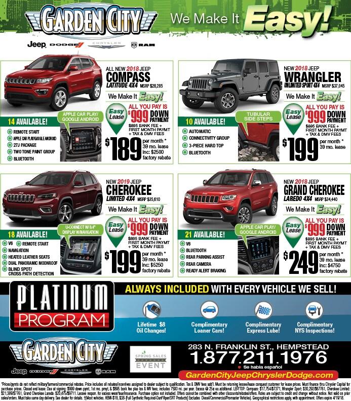 garden city jeep. Garden City Jeep Chrysler Dodge RAM Newspaper Ad