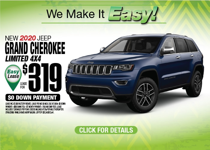 Jeep Grand Cherokee Limited Deal - October 2020