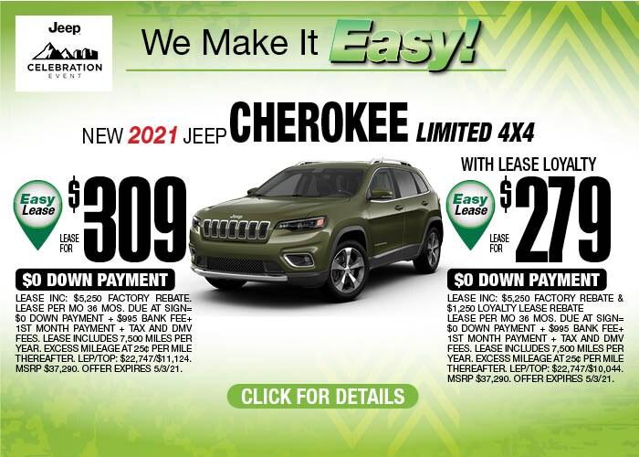 2021 Jeep Cherokee April Special