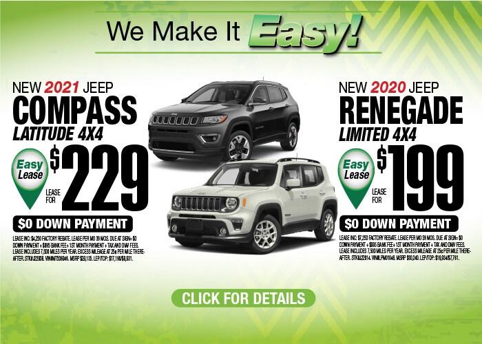 Jeep Compass & Renegade Deals - October 2020