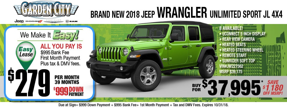 New Jeep Wrangler Unlimited For Sale On Long Island