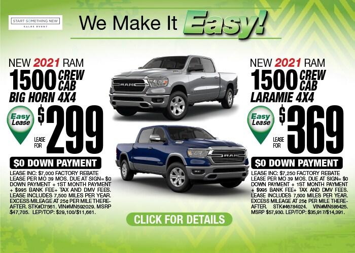 Ram 1500 Crew Cab Deals - January 2021