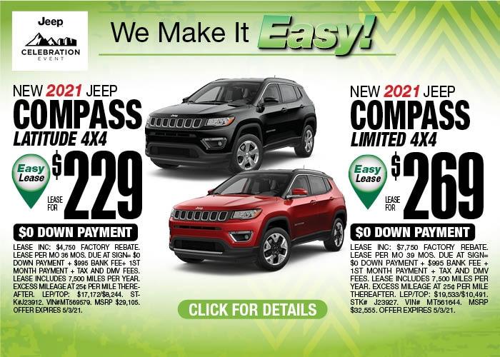 2021 Jeep Compass April Special