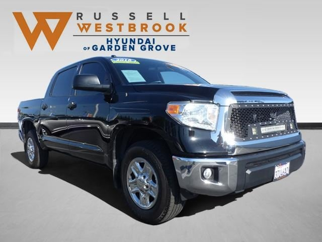 Pre-Owned Featured 2016 Toyota Tundra SR5 4.6L V8 Truck CrewMax for sale near you in Garden Grove, CA