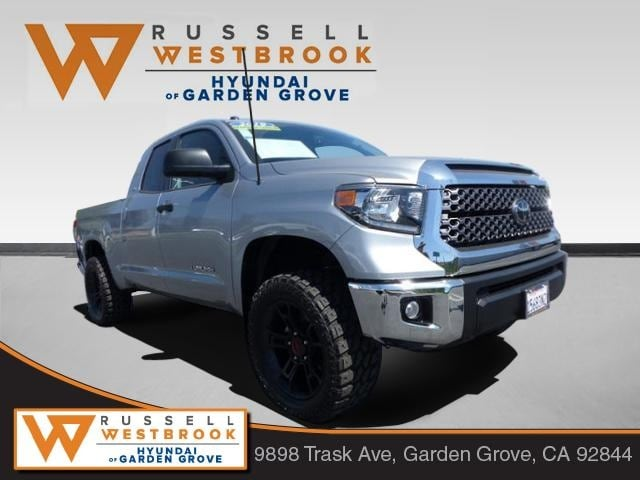 Pre-Owned Featured 2019 Toyota Tundra SR5 4.6L V8 Truck Double Cab for sale near you in Garden Grove, CA