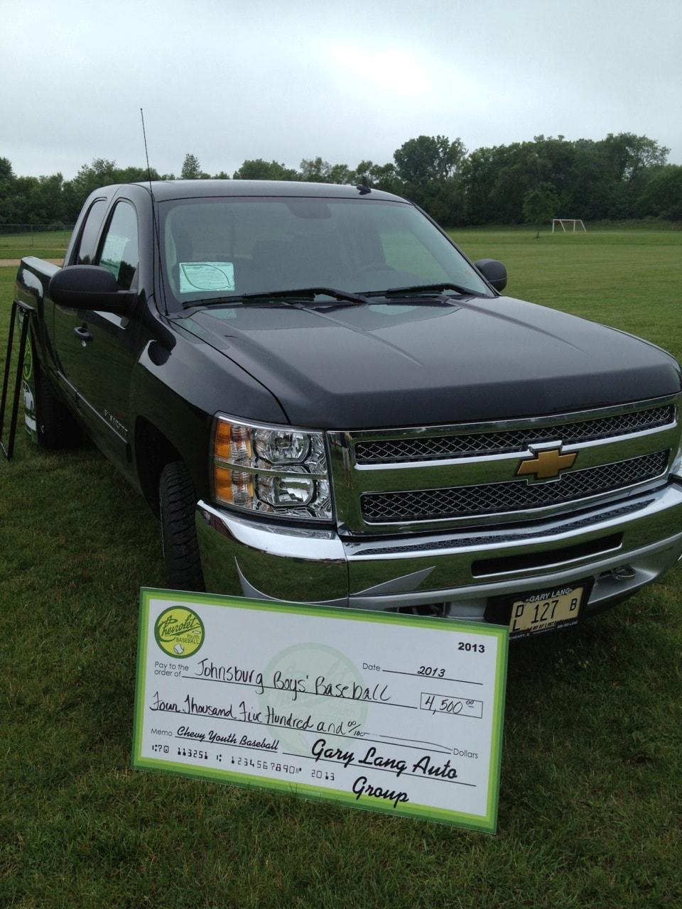 Gary Lang Chevy >> Gary Lang Chevy Donates 4 500 To The Johnsburg Boys