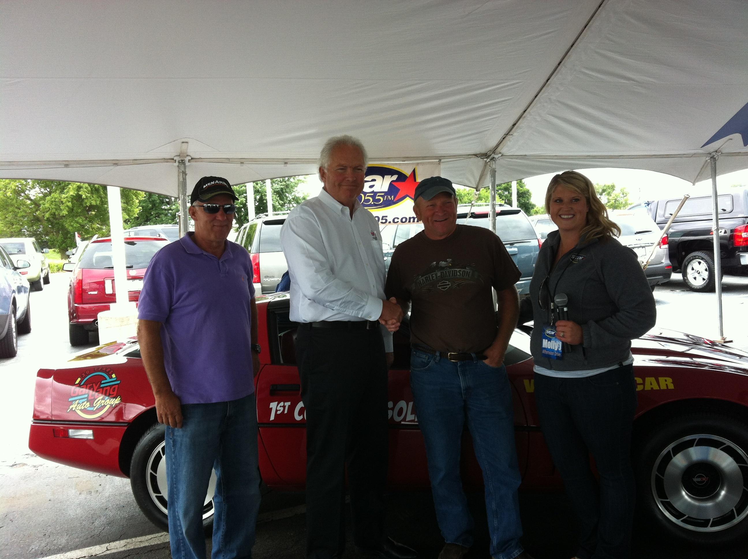 Chevrolet Corvette Winner Jim Verseman from Cary Illinois