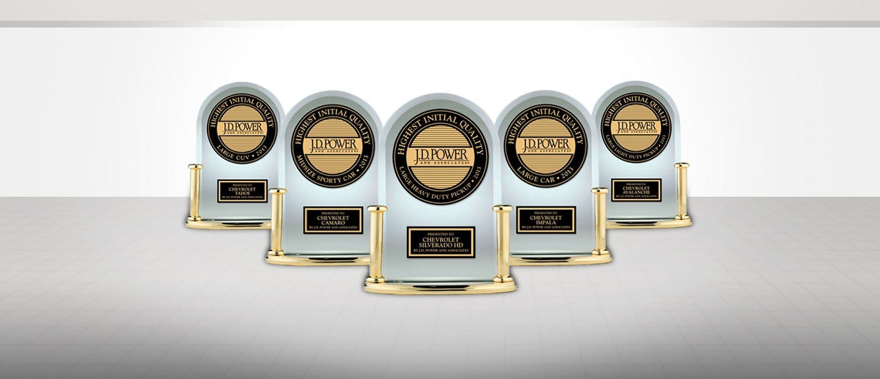Jd Power Initial Quality Award >> Five Chevy Models Earn 2013 Jd Power Initial Quality Award