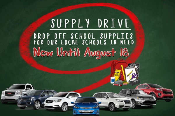 Gary Lang Auto Group School Supply Drive in McHenry, IL