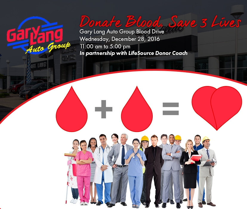 Gary Lang Auto Group Blood Drive