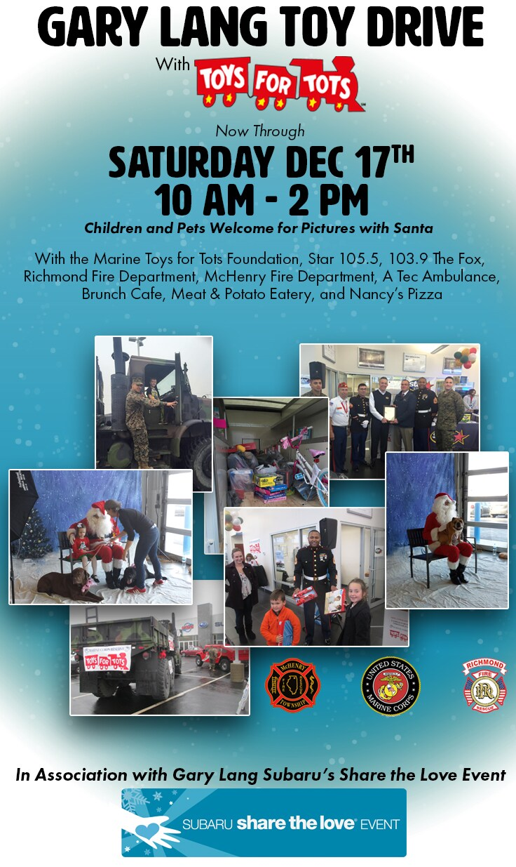 Toys for Tots Drive at Gary Lang in McHenry, IL