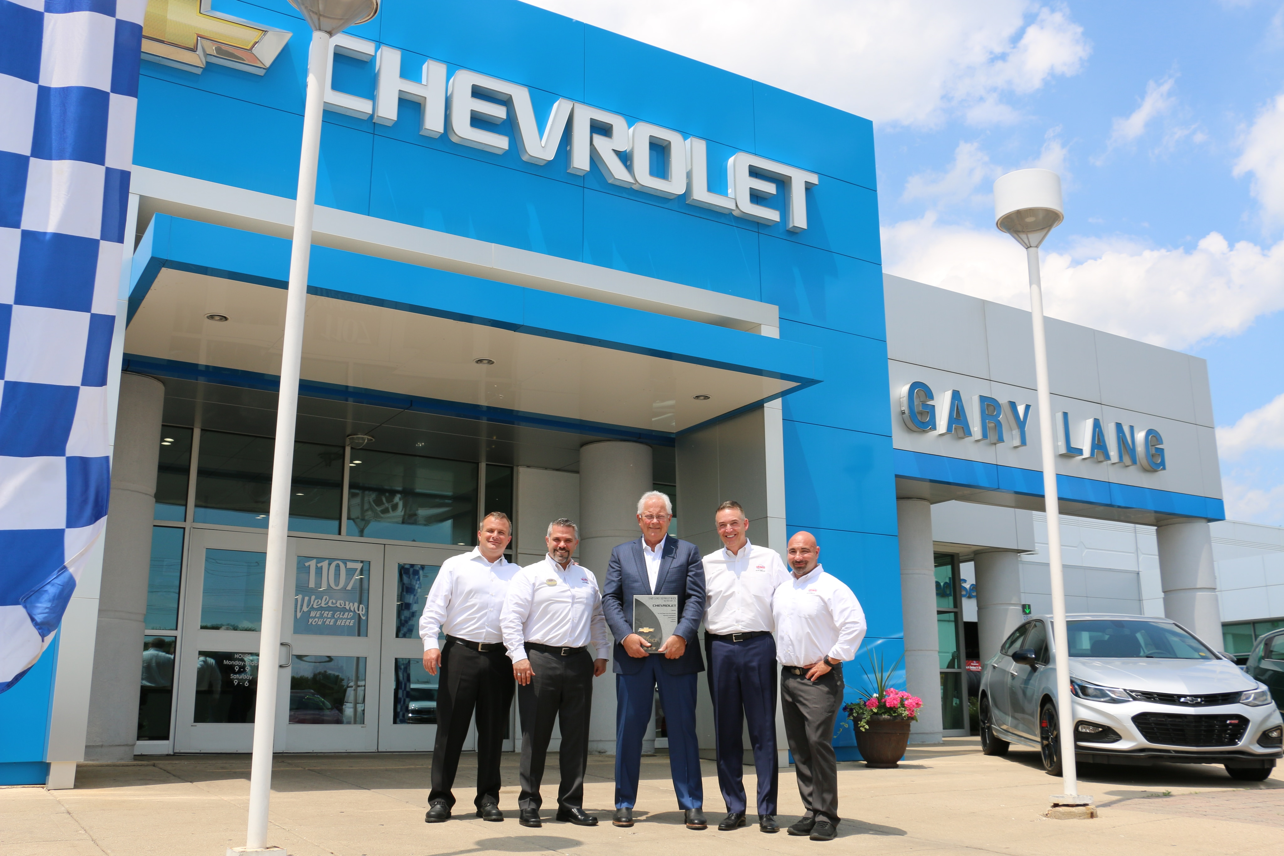 Gary Lang Chevrolet Mark of Excellence Award | McHenry, IL