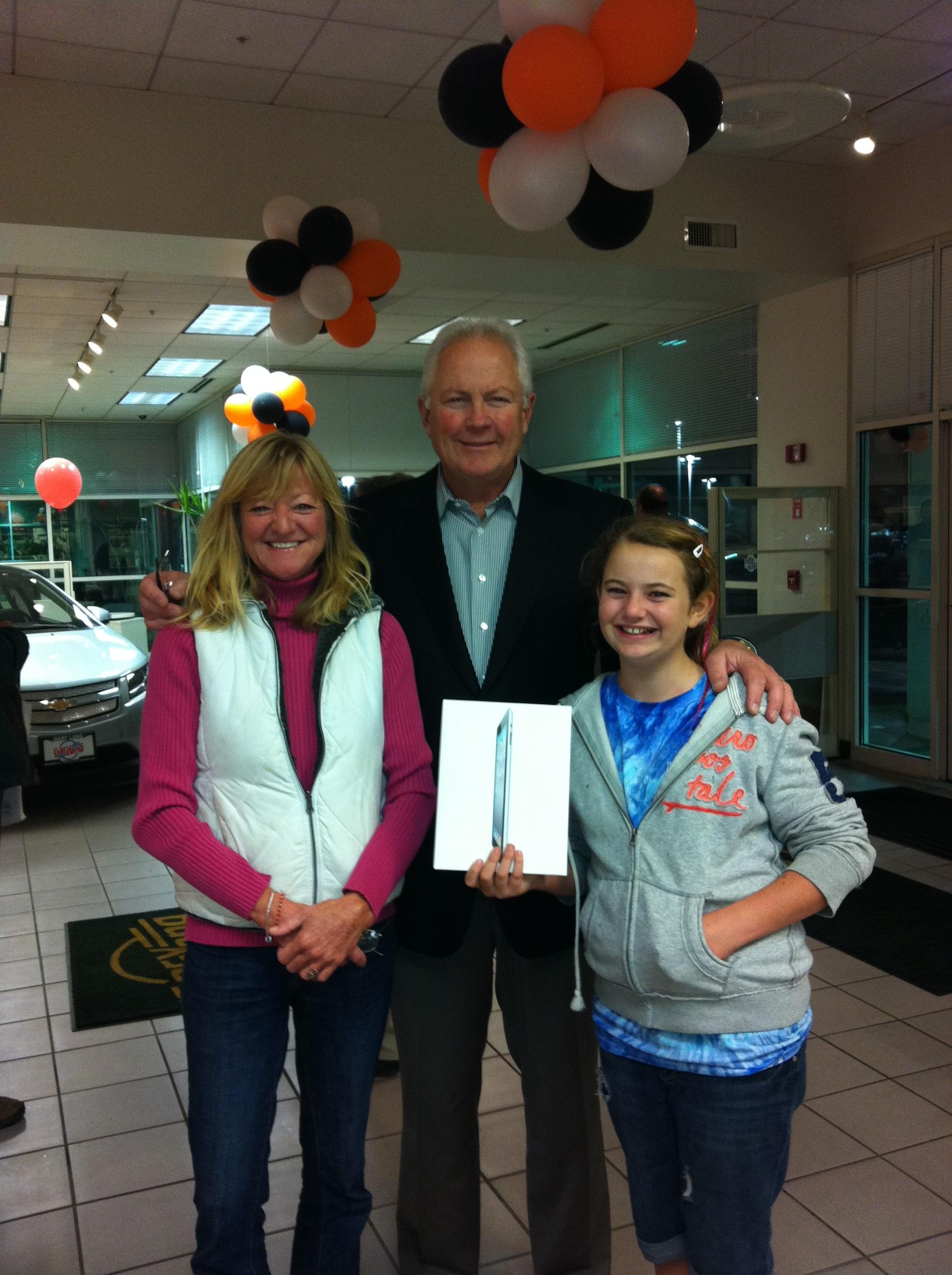 Judy Humphris Wins iPad from Gary Lang