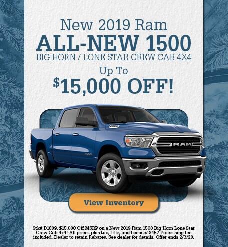January | 2019 Ram All-New 1500