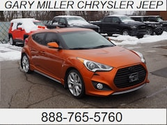 Used 2014 Hyundai Veloster Turbo w/Black Hatchback KMHTC6AE9EU200985 for sale in Erie, PA at Gary Miller Chrysler Dodge Jeep Ram