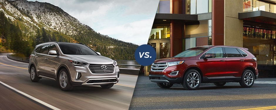 Comparison  Hyundai Santa Fe Vs  Ford Edge