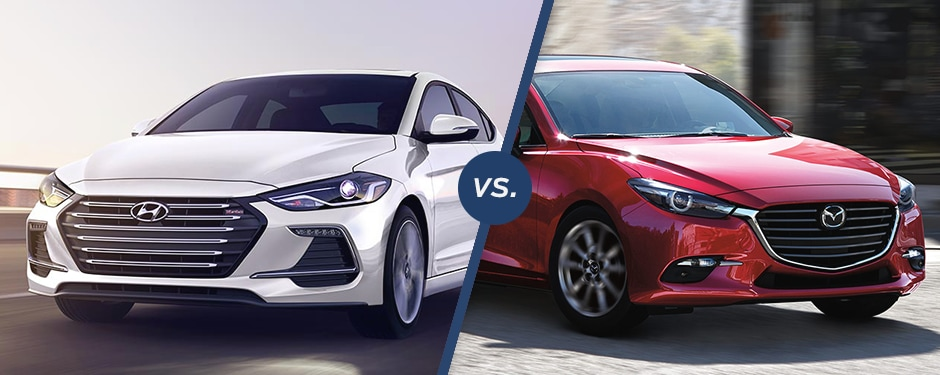 Comparison: 2018 Hyundai Elantra vs 2018 Mazda 3