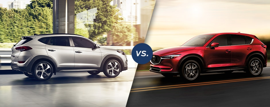 Comparison: 2017 Hyundai Tucson vs 2017 Mazda CX-5<br><table align=