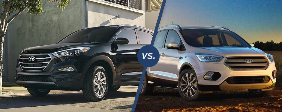 Comparison: 2018 Hyundai Tucson vs 2018 Ford Escape