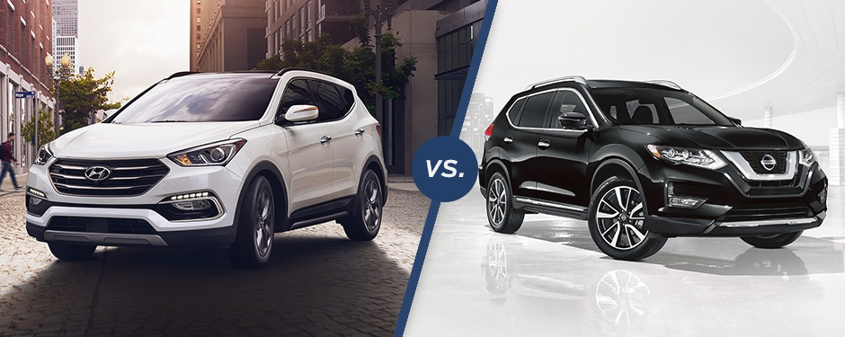 Comparison: 2018 Hyundai Santa Fe Sport vs 2018 Nissan Rogue