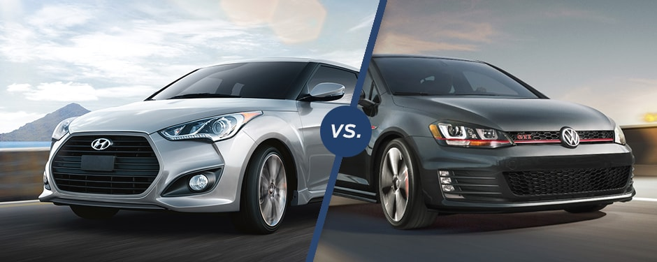 Comparison: 2017 Hyundai Veloster Turbo vs 2018 Volkswagen Golf GTI