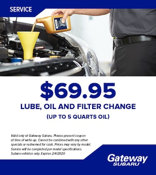 Lube, Oil, Filter Change