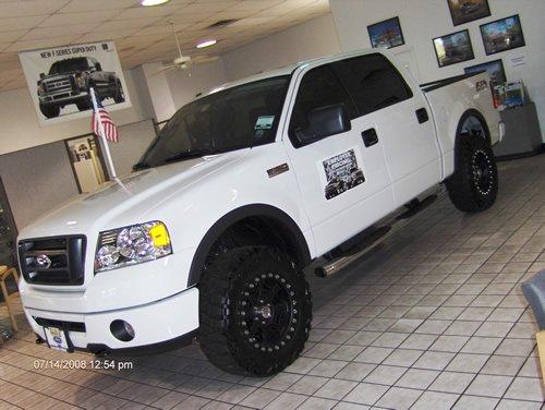 White Ford F150