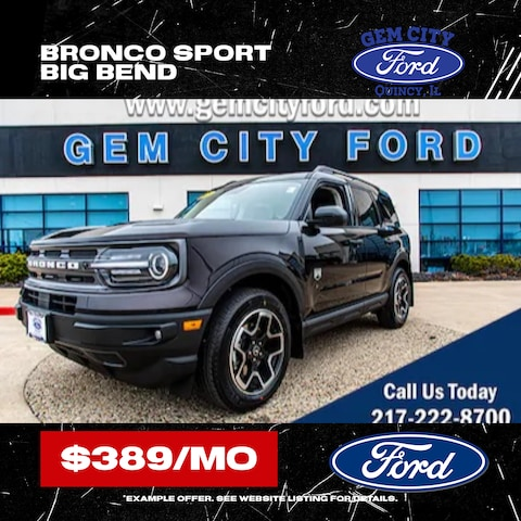 New Ford Bronco Sport! Only $389/Month