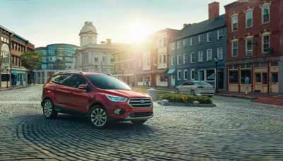 2018 Ford Escape Titanium Red SUV for sale at Gene Messer Ford Lincoln in Lubbock TX