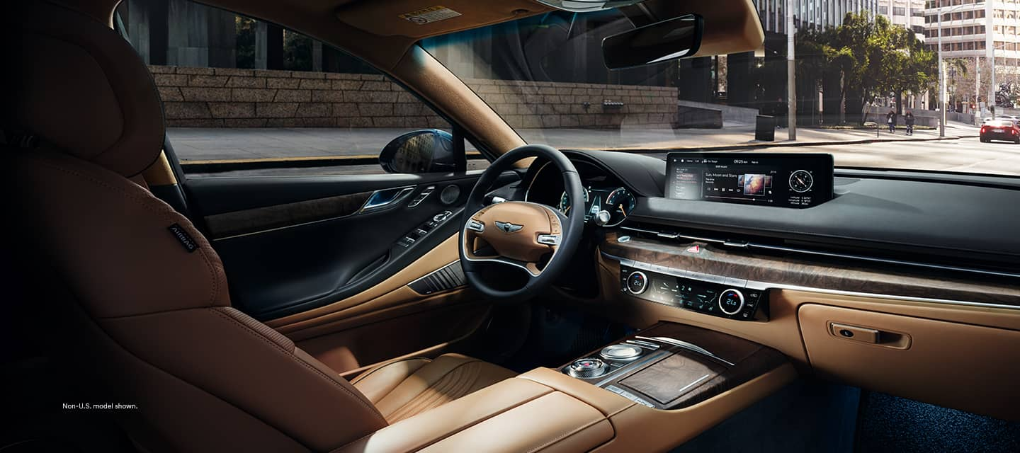 interior of all new 2021 Genesis G80